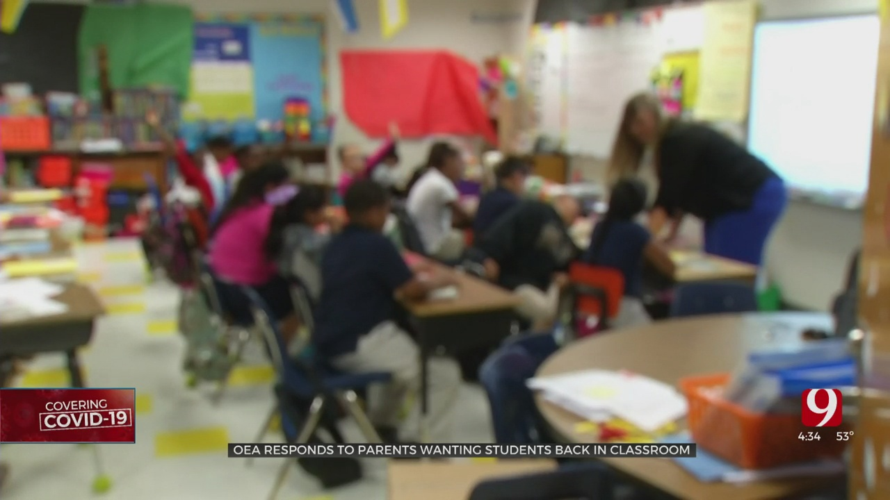 OEA Responds To Parents Wanting Students Back In The Classroom