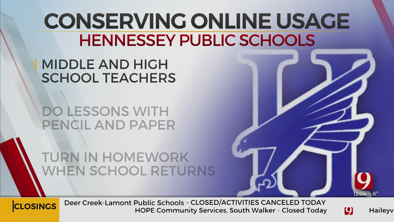 Hennessey Public Schools Changes Lesson Plans To Conserve Power