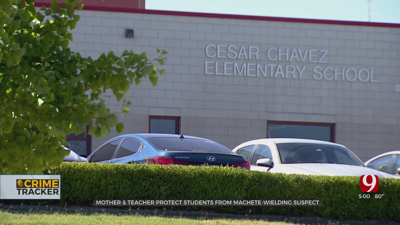 OKC Mother & Teacher Protect Elementary Students From Machete-Wielding Suspect