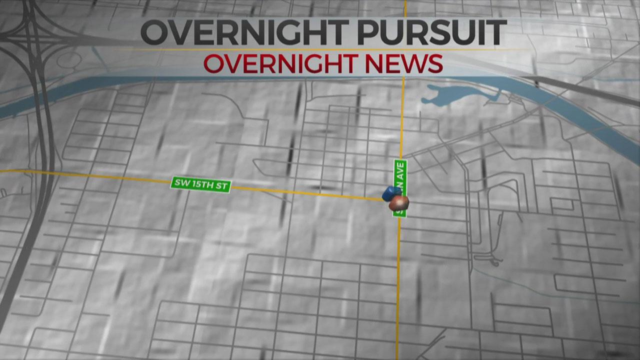 OKC Police: 2 In Custody After Overnight Pursuit