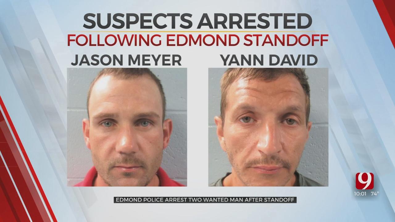 Stolen Vehicles Led Edmond Police To Standoff; 2 Arrested