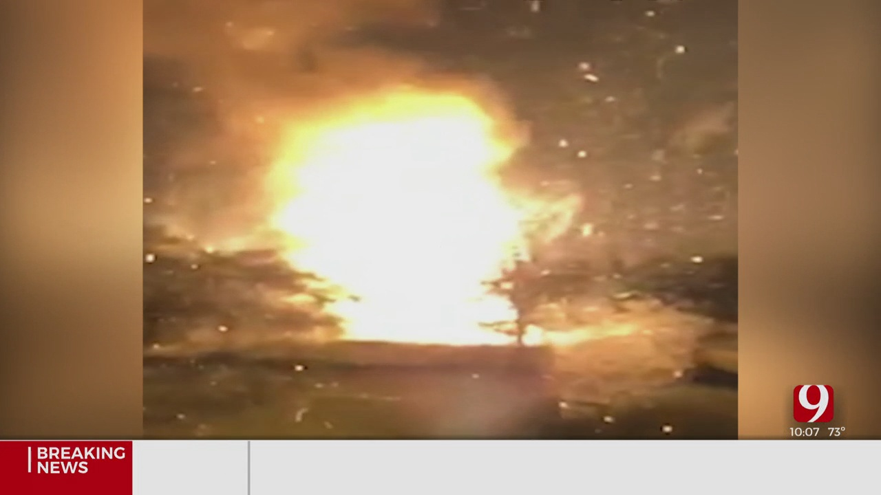 Multiple Agencies Battle Large Fire After Gas Line Explosion In Piedmont