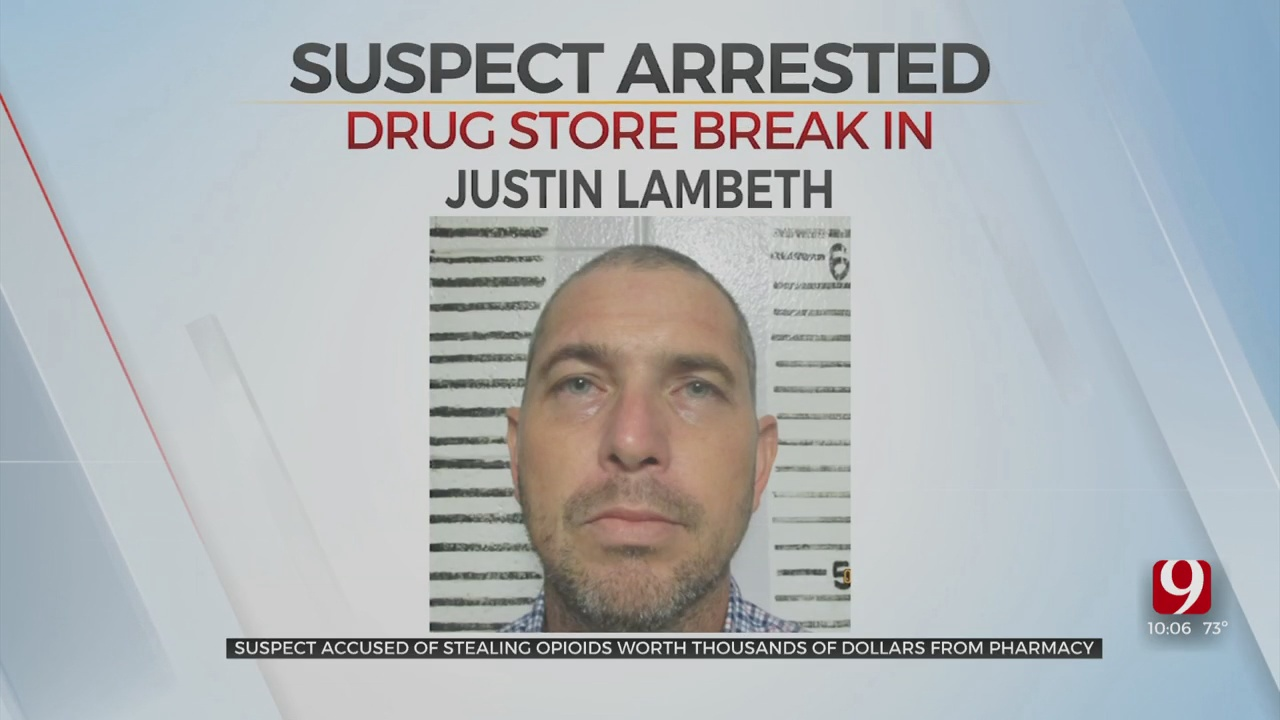 Thousands Of Opioids Stolen From Drug Store, One Suspect Arrested