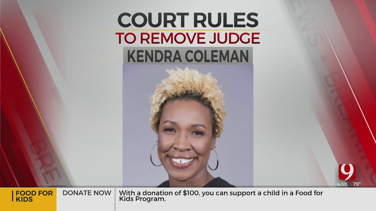 Oklahoma County District Judge Kendra Coleman Removed From Office
