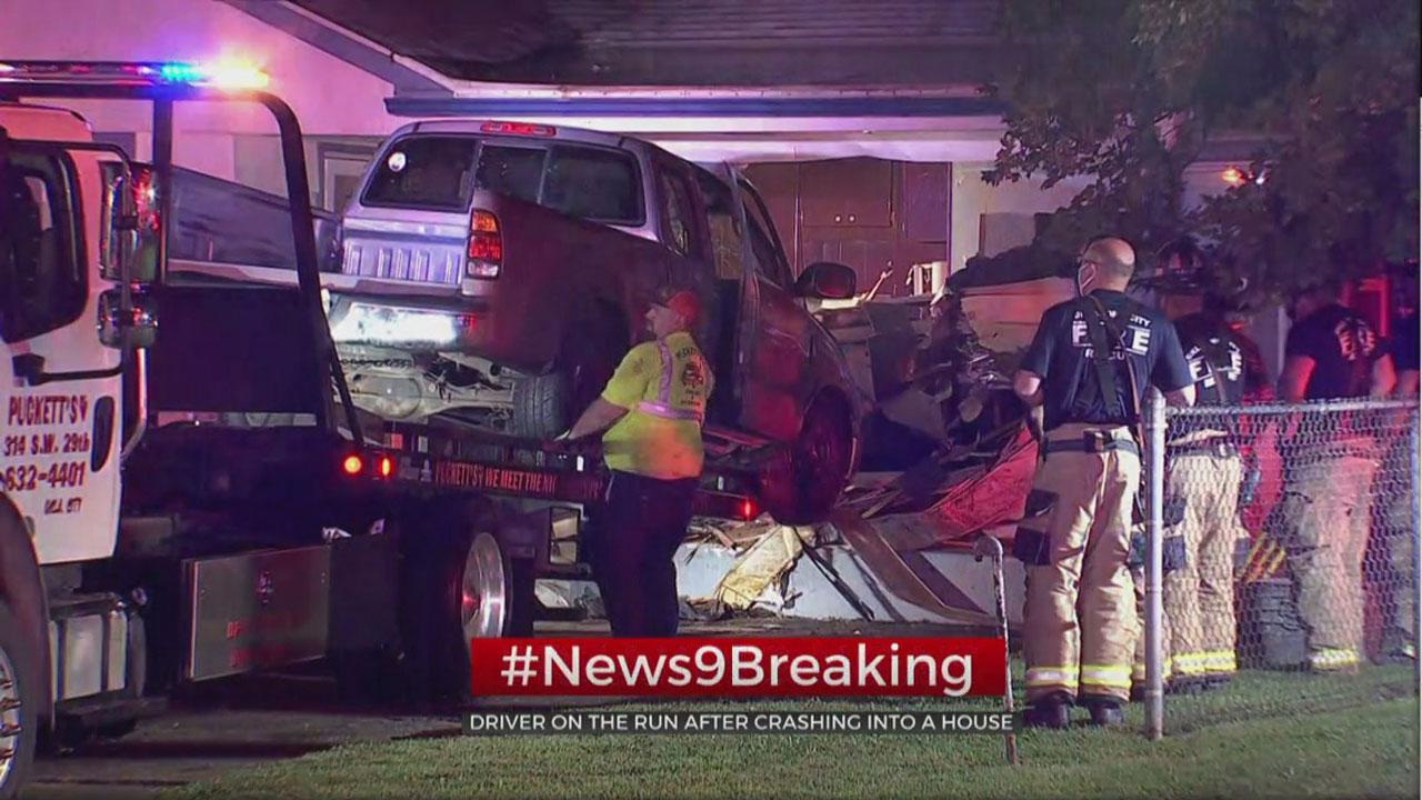 Vehicle Crashes Into SW OKC Home