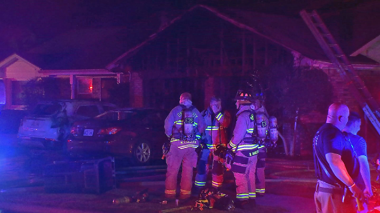 Oklahoma City Man Taken To Hospital After House Fire