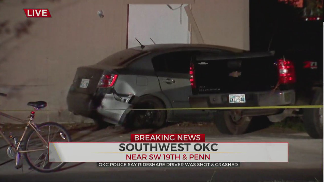 Ride Share Driver In Critical Condition After Shooting, Crash In SW OKC
