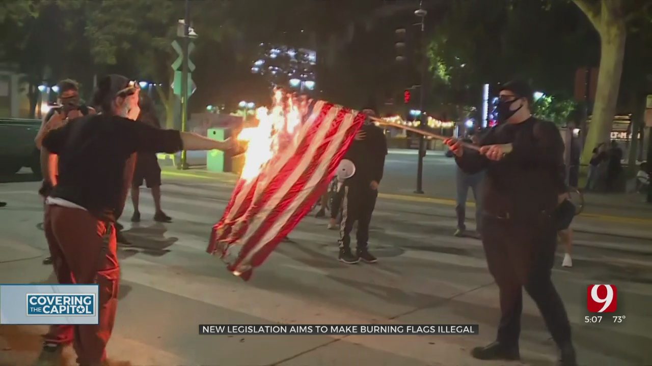 New Legislation Aims To Make Burning Flags Illegal