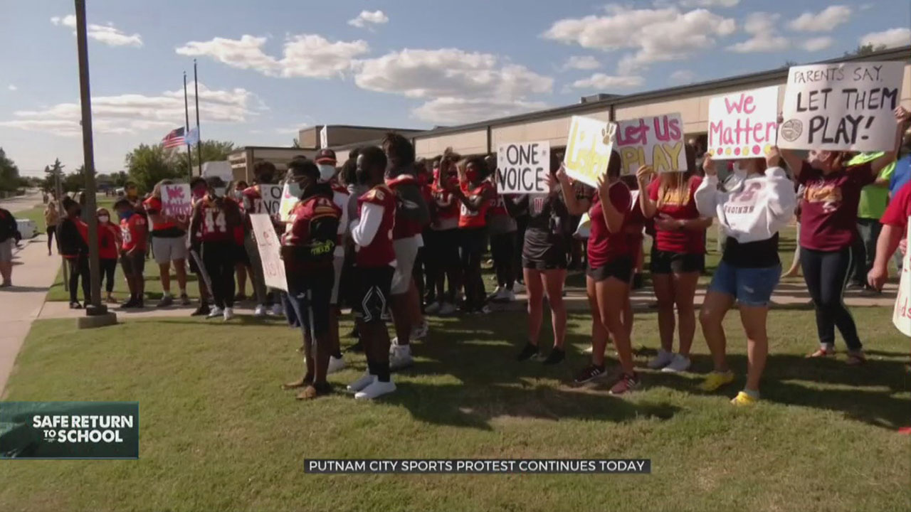Athletes, Coaches Continue Protests Against Canceled Activities At Putnam City Schools Office