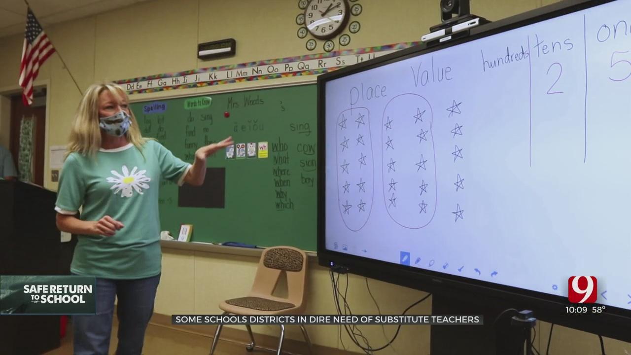 Oklahoma Schools Experiencing Shortage Of Substitute Teachers