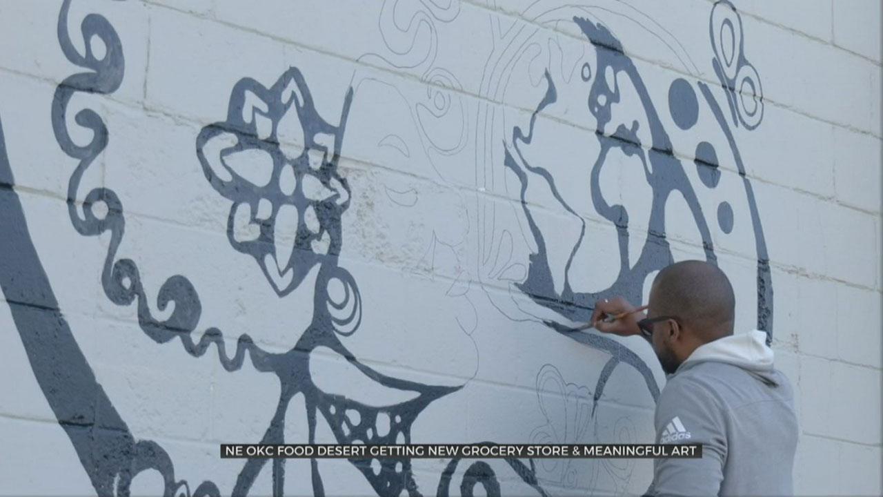Local Rapper Brings Art To New NE OKC Grocery Store