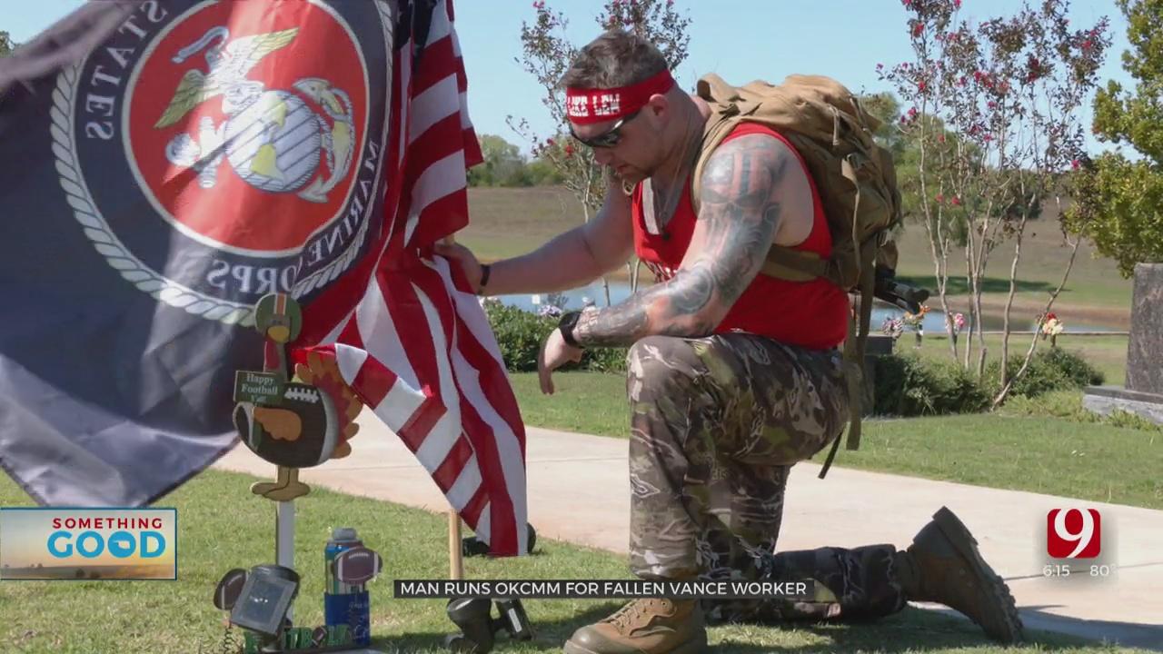 Fellow Marine Honors Friend, Fallen Vance AFB Worker At Virtual Memorial Marathon