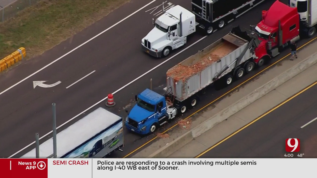 Hot Dogs Spill Onto Interstate In Midwest City Accident
