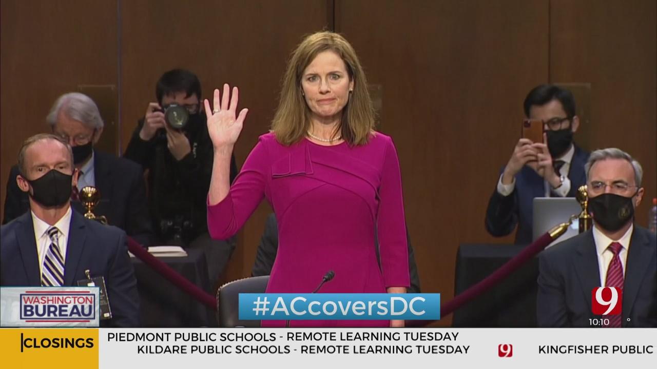 Amy Coney Barrett Sworn-In As Supreme Court Justice