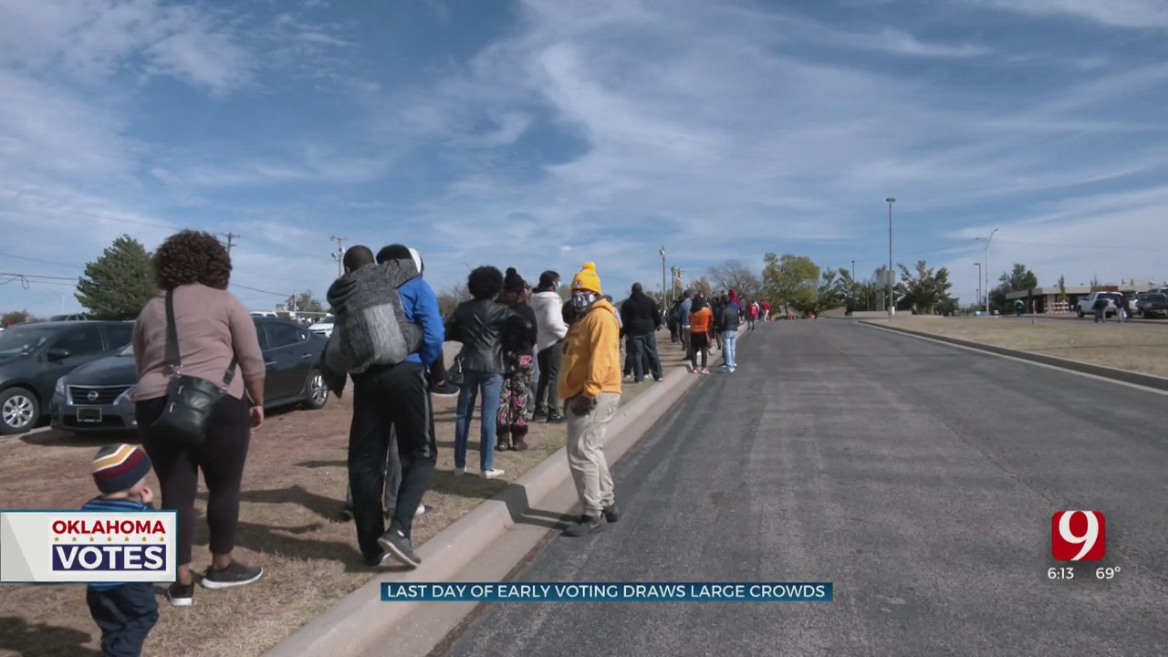 Oklahomans Turn Out For Final Day Of Early Voting