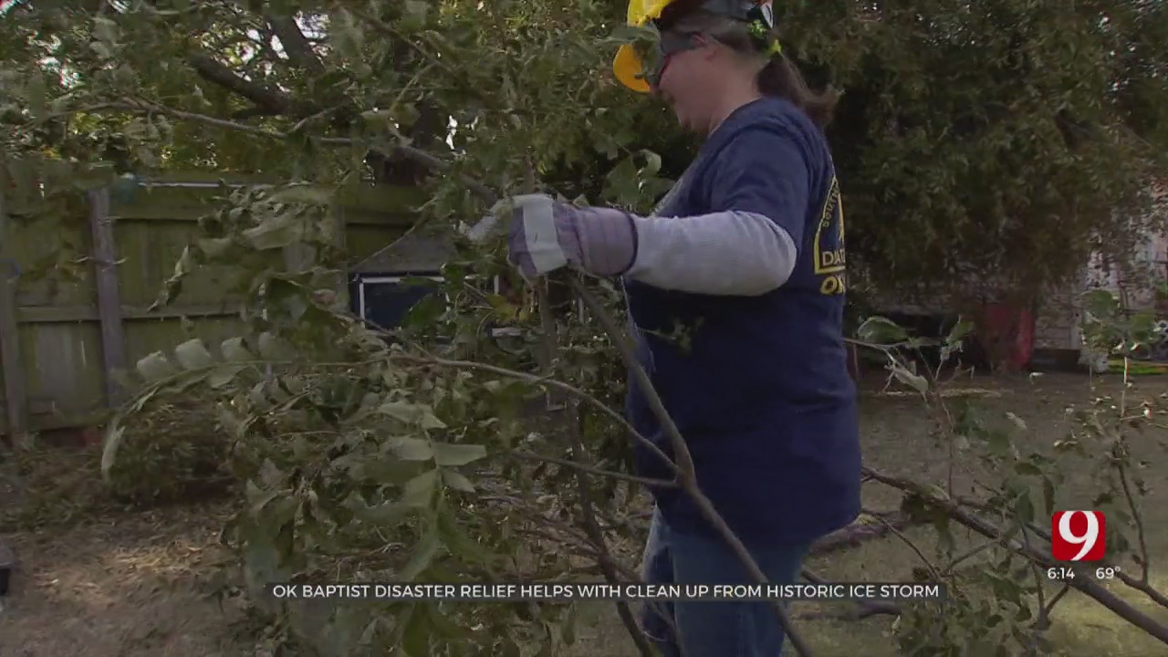 Baptist Disaster Relief Assist In Cleanup After Ice Storm