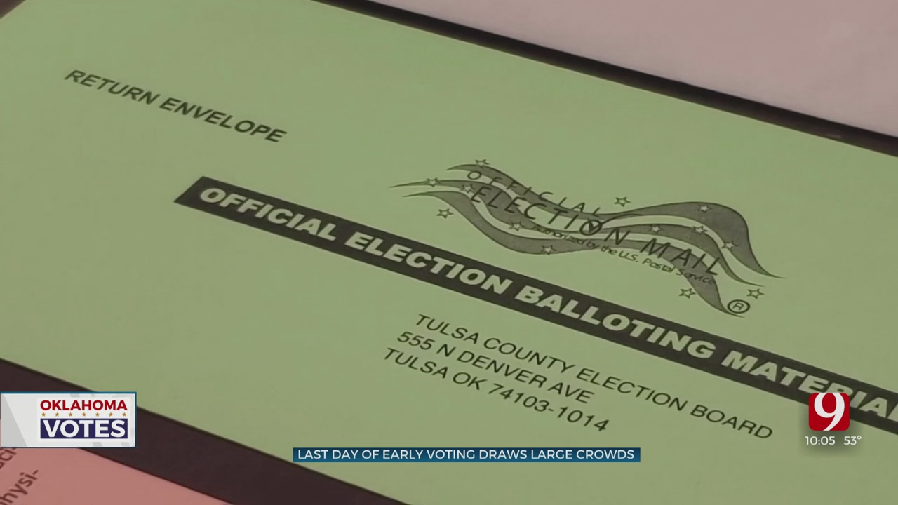 Last Day Of Early Voting Draws Large Crowds