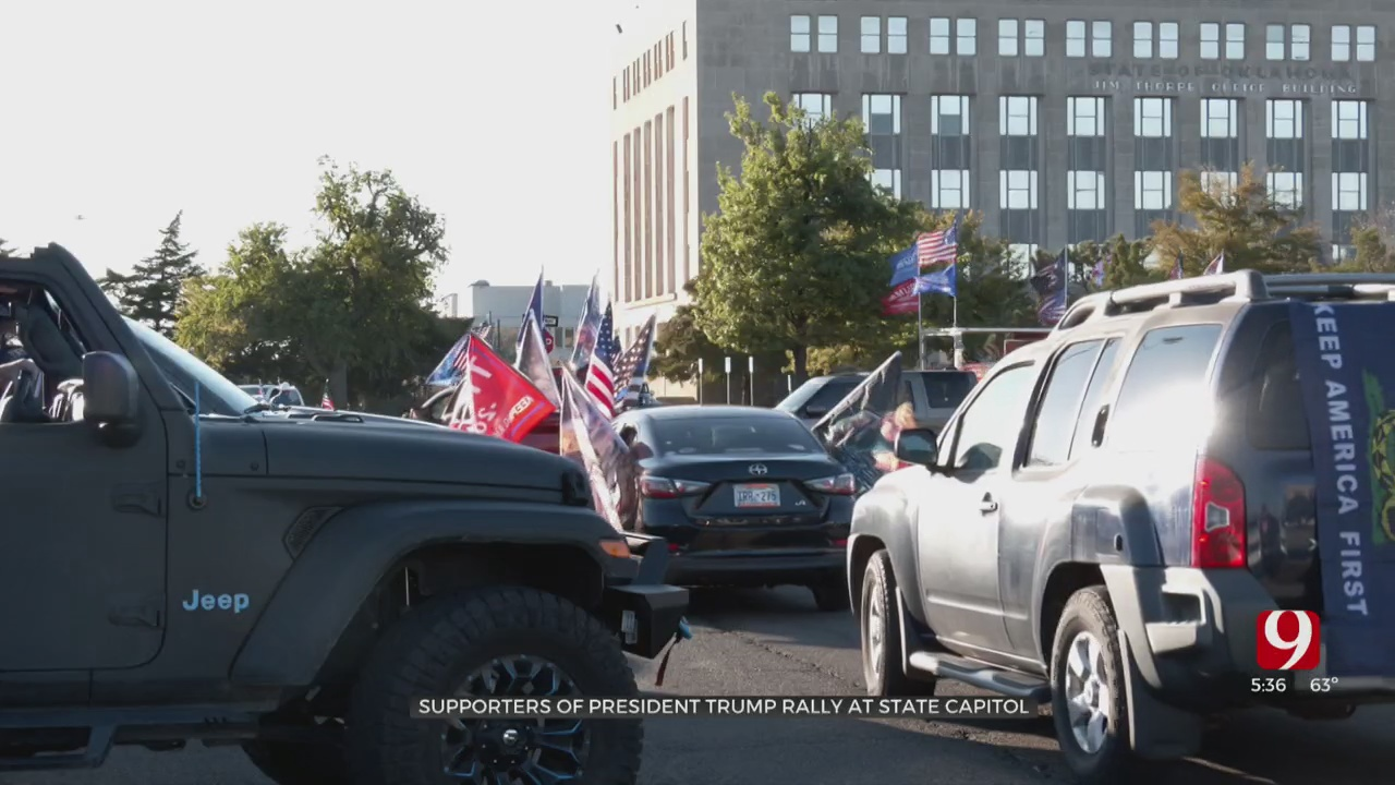 Supporters Of President Trump Rally At State Capitol
