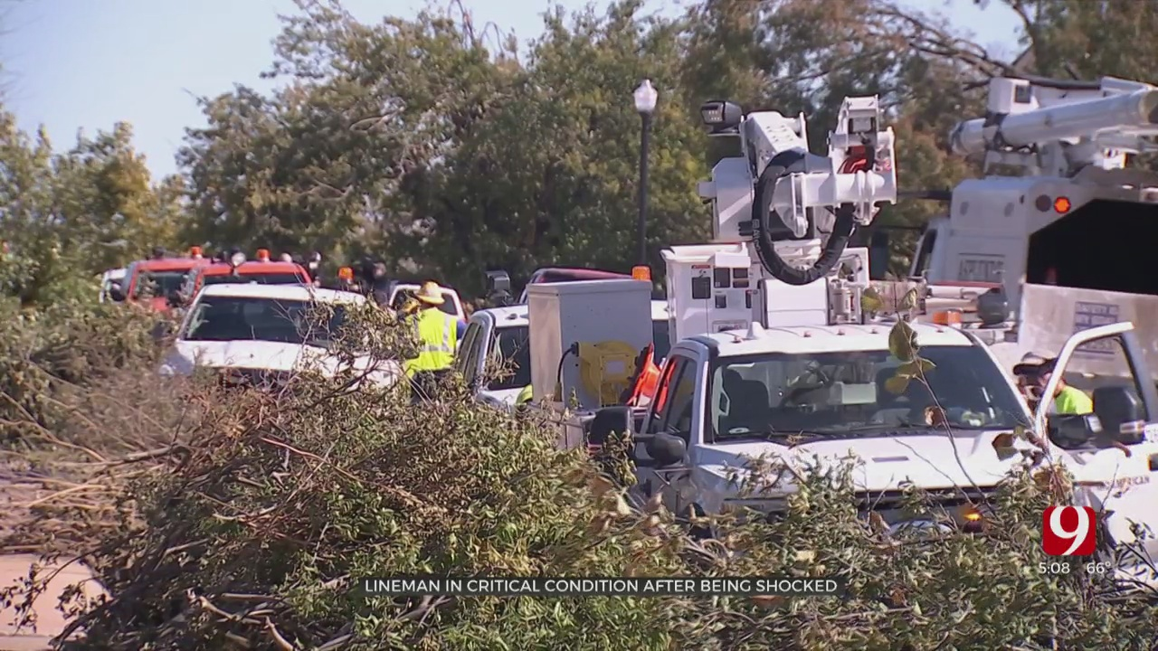 Lineman Critically Injured After Suffering Electrical Shock In NW OKC