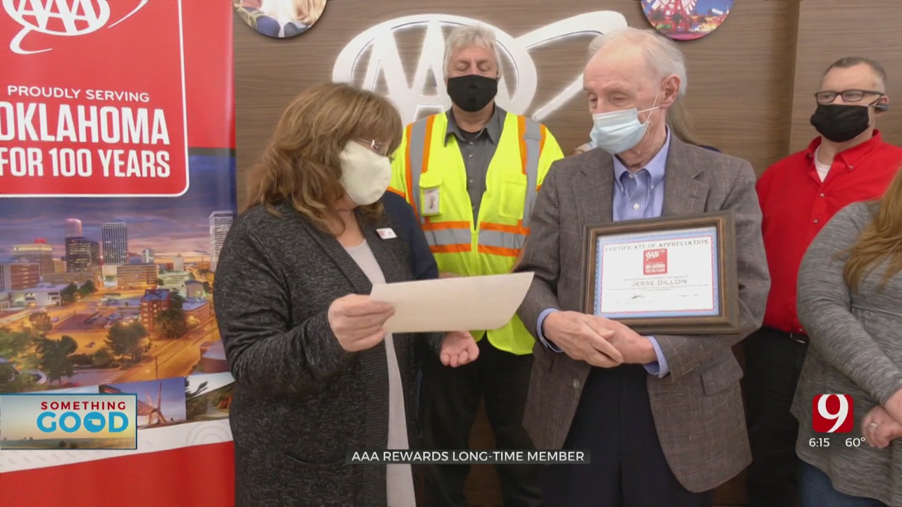 AAA Honors Central Oklahoma's 90-Year-Old Road Warrior