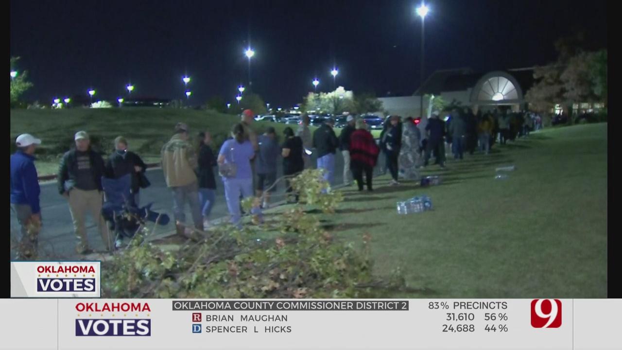 Voter Turnout Creates Long Wait Times In NE OKC