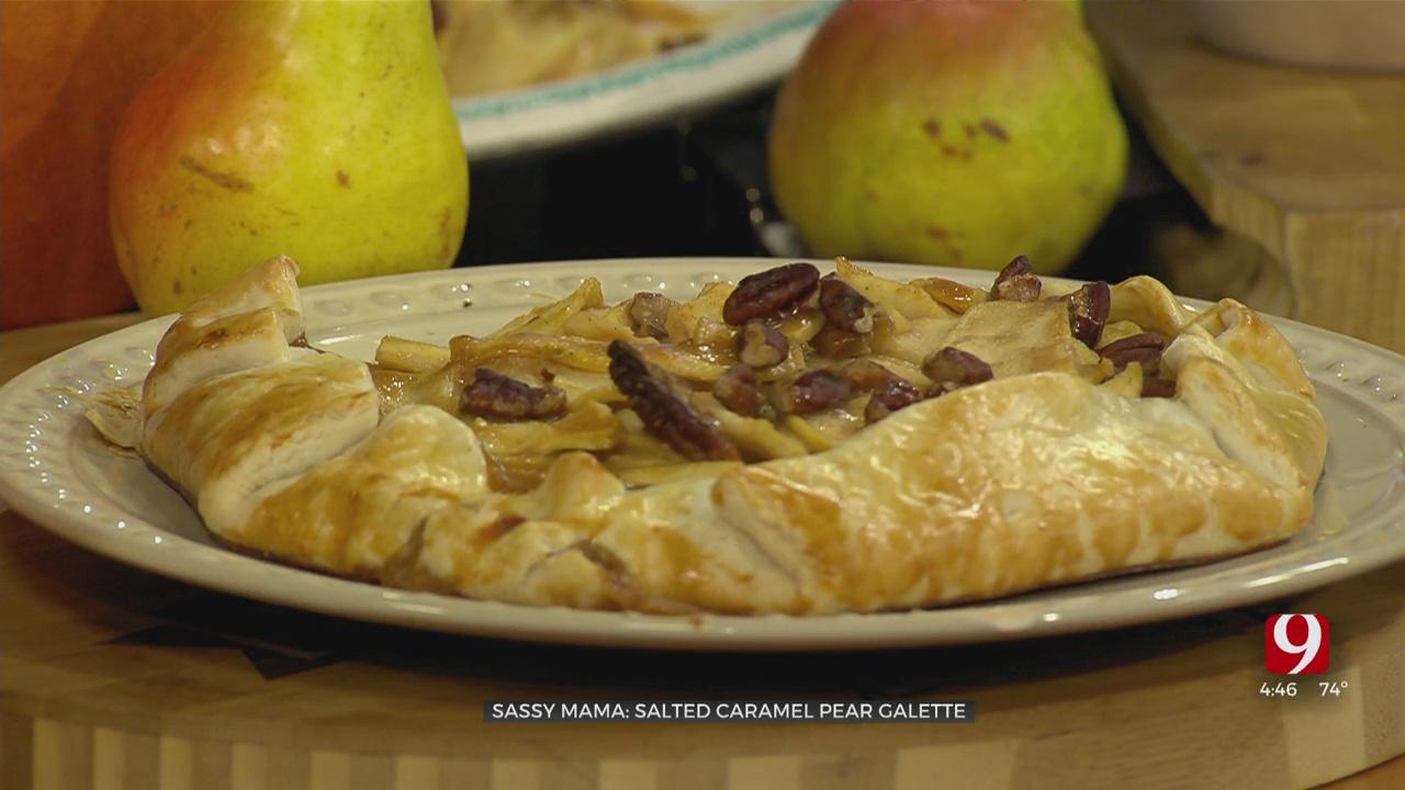Salted Caramel Pear Galette