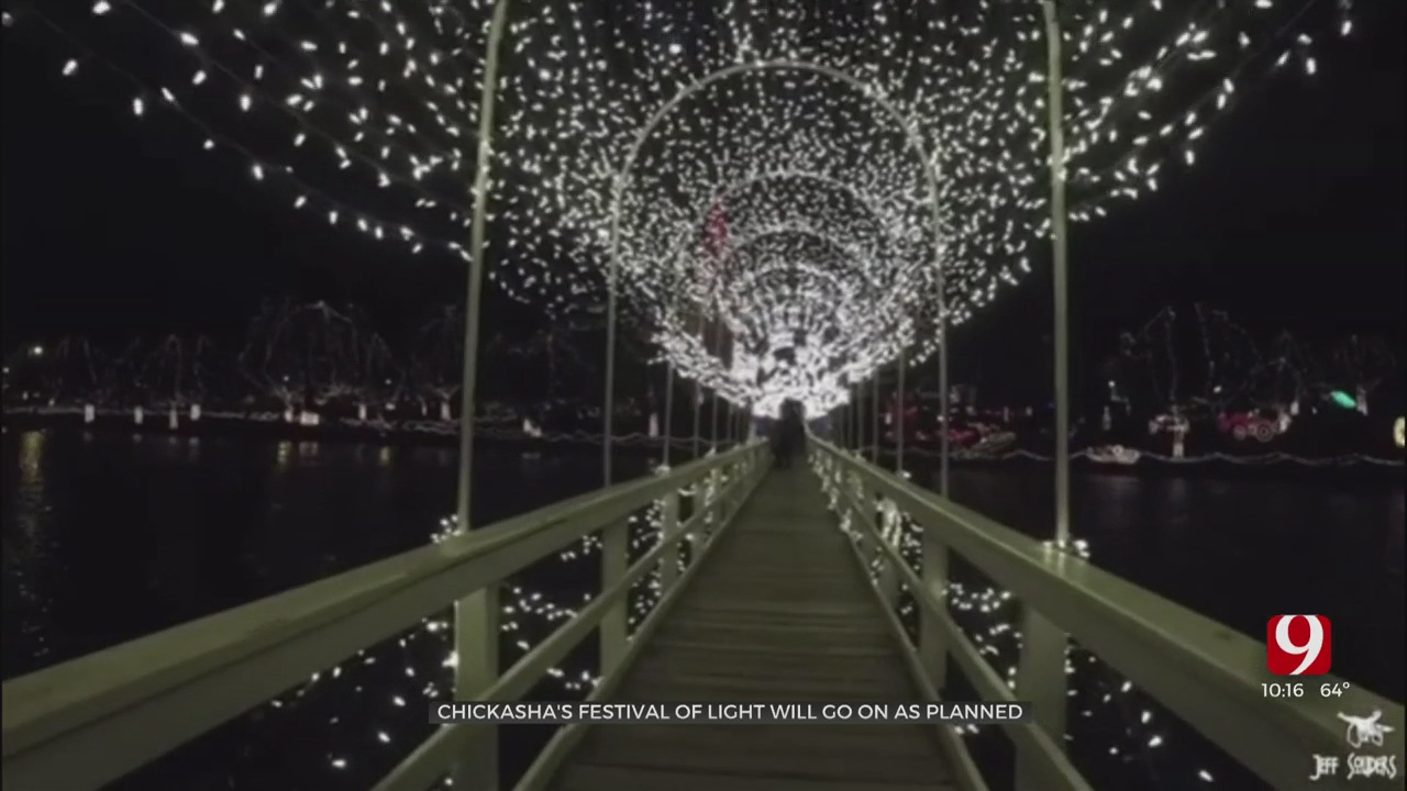 Chickasha's Festival Of Light Will Go On Following Ice Storm, COVID-19