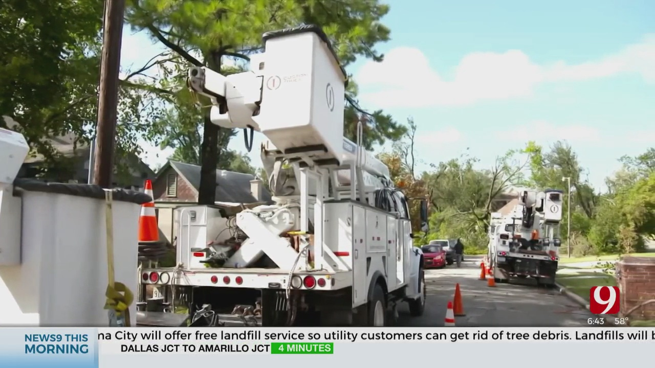 OG&E Working To Restore Power Outages Friday