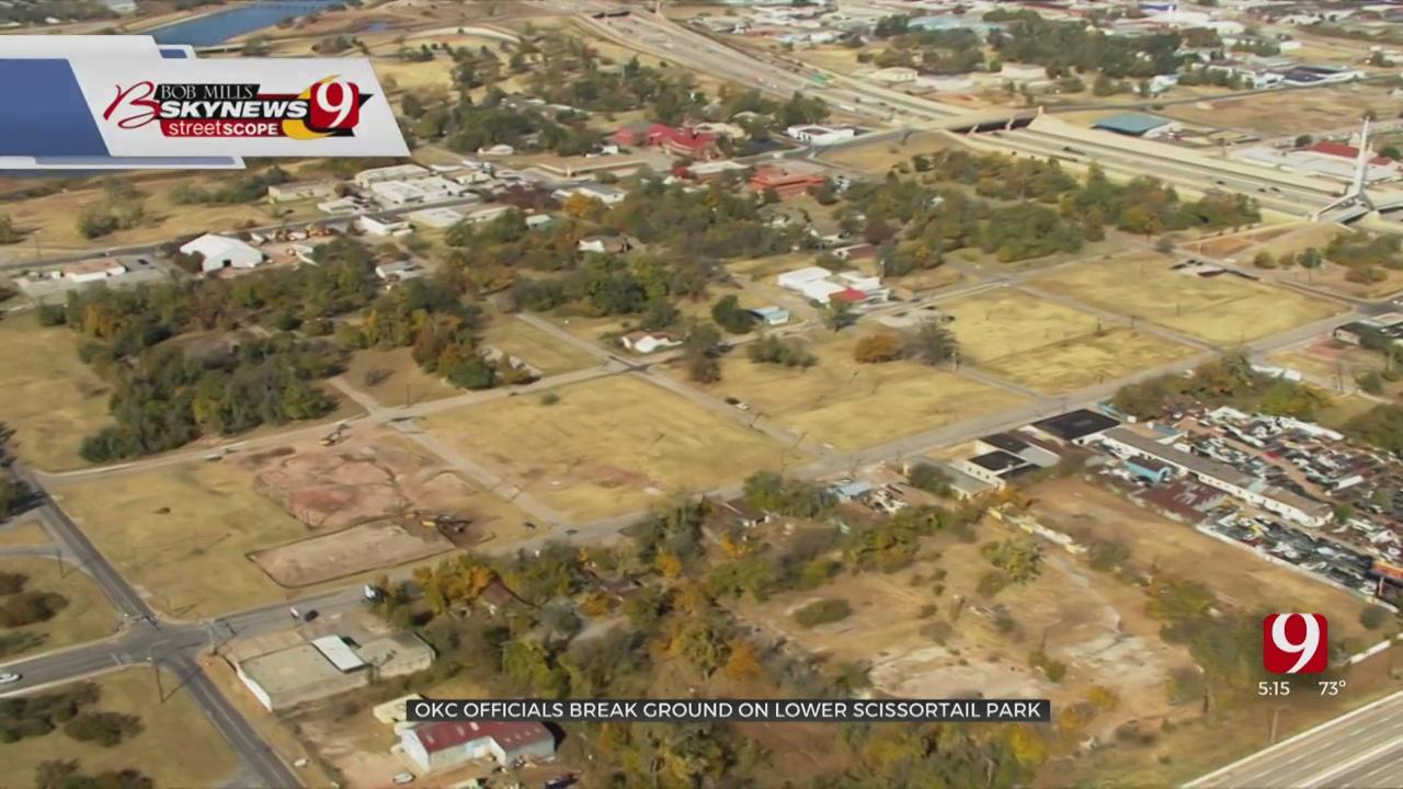 OKC Officials Break Ground On Lower Scissortail Park