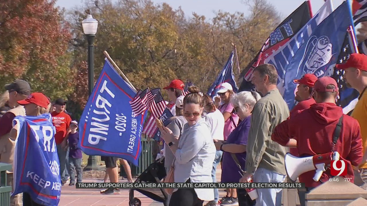 Trump Supporters Gather At State Capitol To Protest Election Results