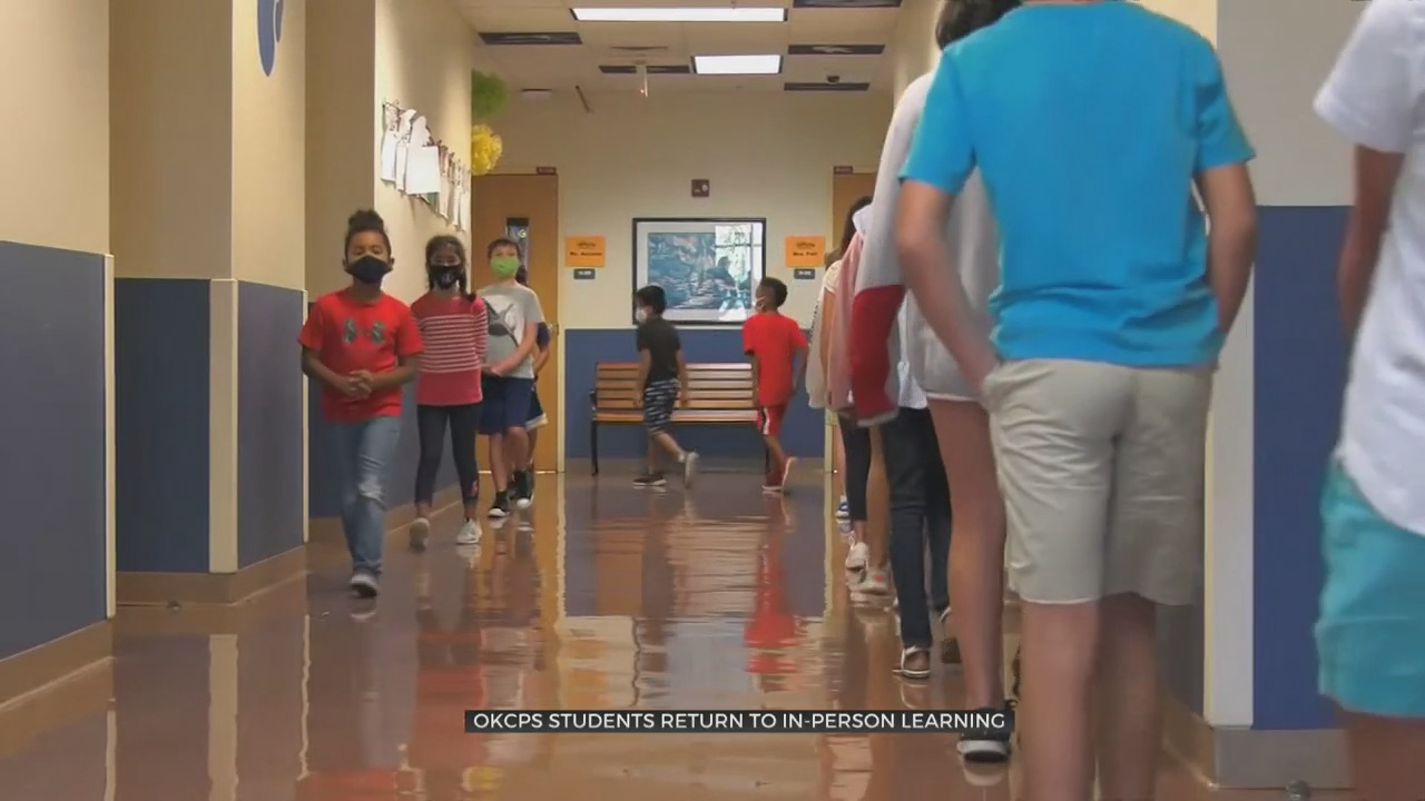 More OKCPS Students Return To Classroom Amid COVID-19 Pandemic