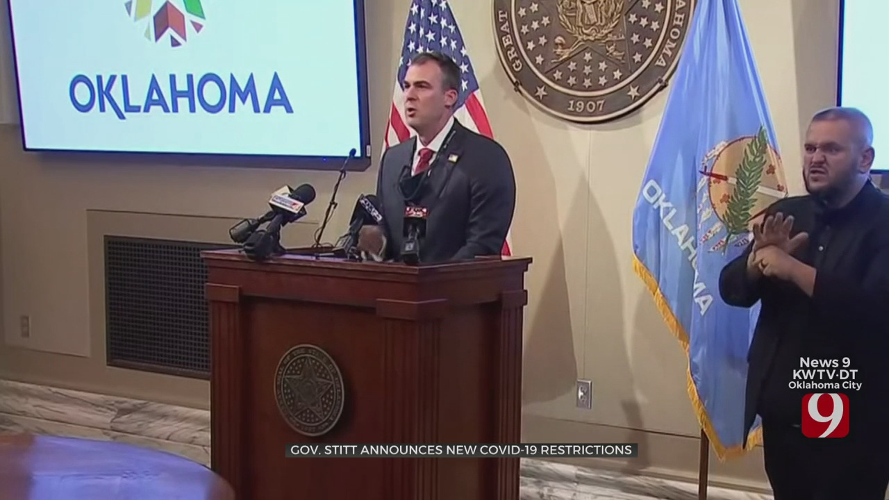 Gov. Stitt Announces New Actions To Combat COVID-19 Spread In State