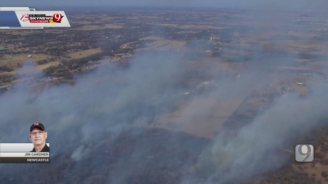 Newcastle FD Battling Grass Fire