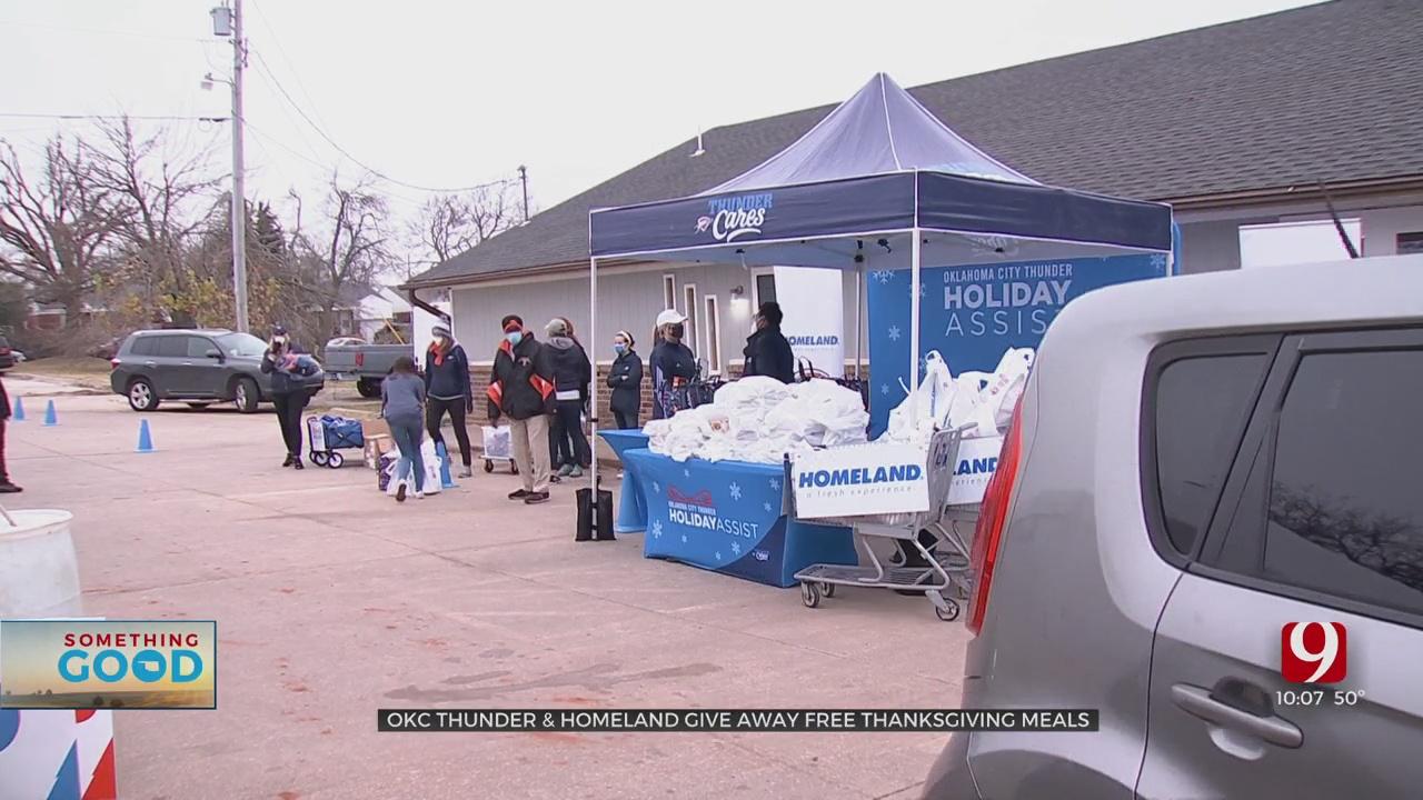 Oklahoma City Thunder, Homeland Give Away Free Thanksgiving Meals