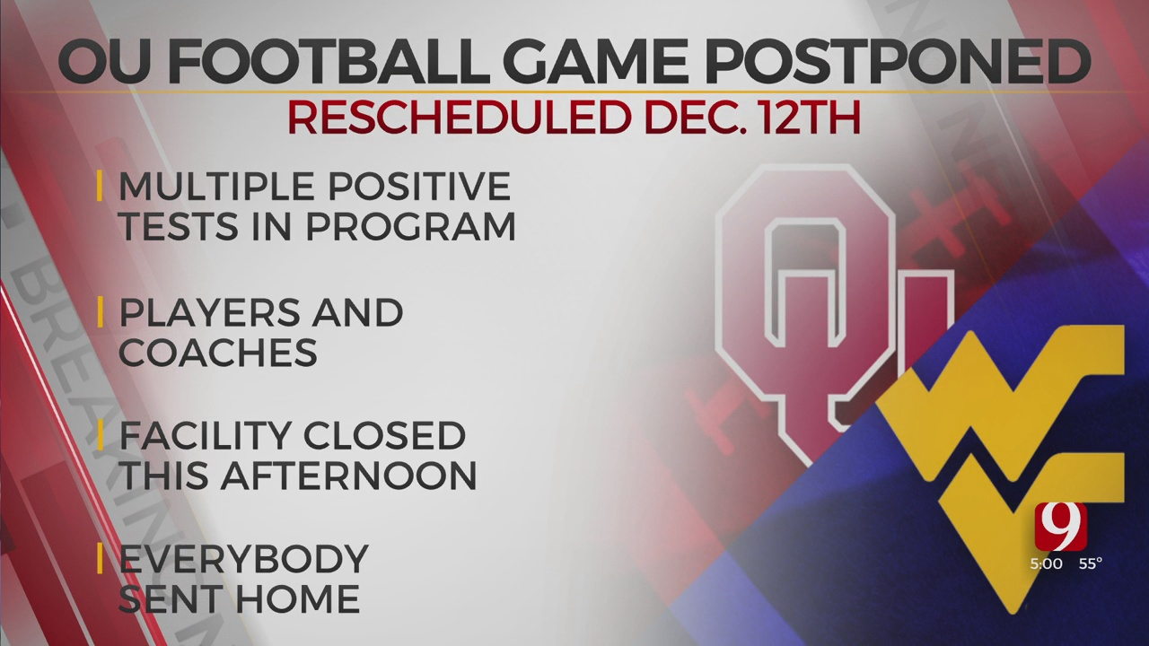 OU-West Virginia Football Game Rescheduled For Dec. 12