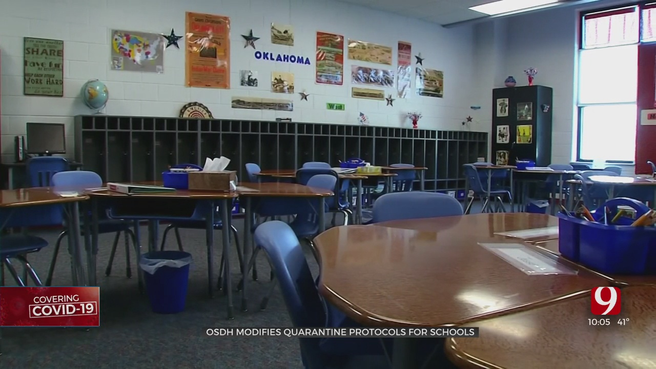 OSDH Announces Optional Short-Term Change To Quarantine Policy For Oklahoma Schools