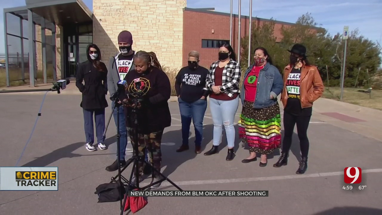 BLM OKC & Supporters Voice Demands Following Officer-Involved Shooting Death Of 15-Year-Old