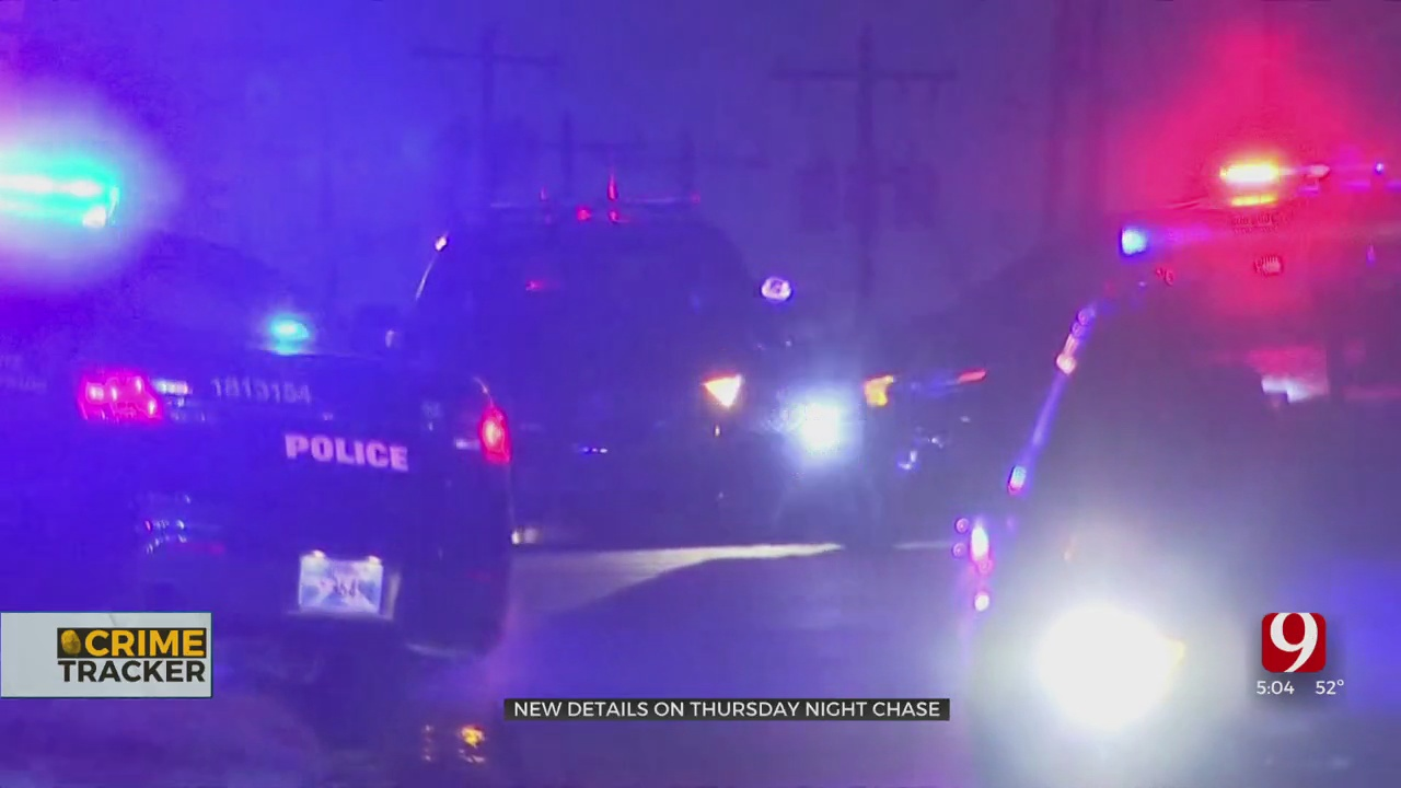 Surveillance Video Shows End Of Police Chase In SE OKC Metro