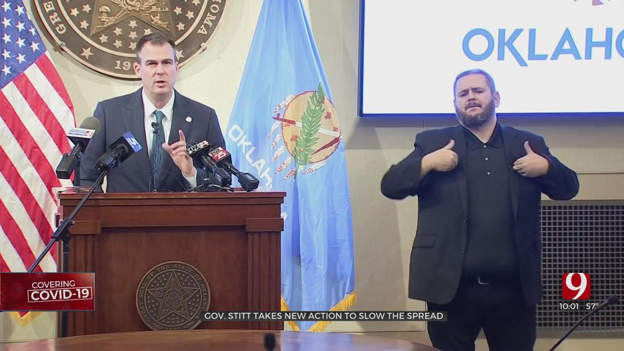 Gov. Stitt Takes Action To Slow COVID-19 Spread