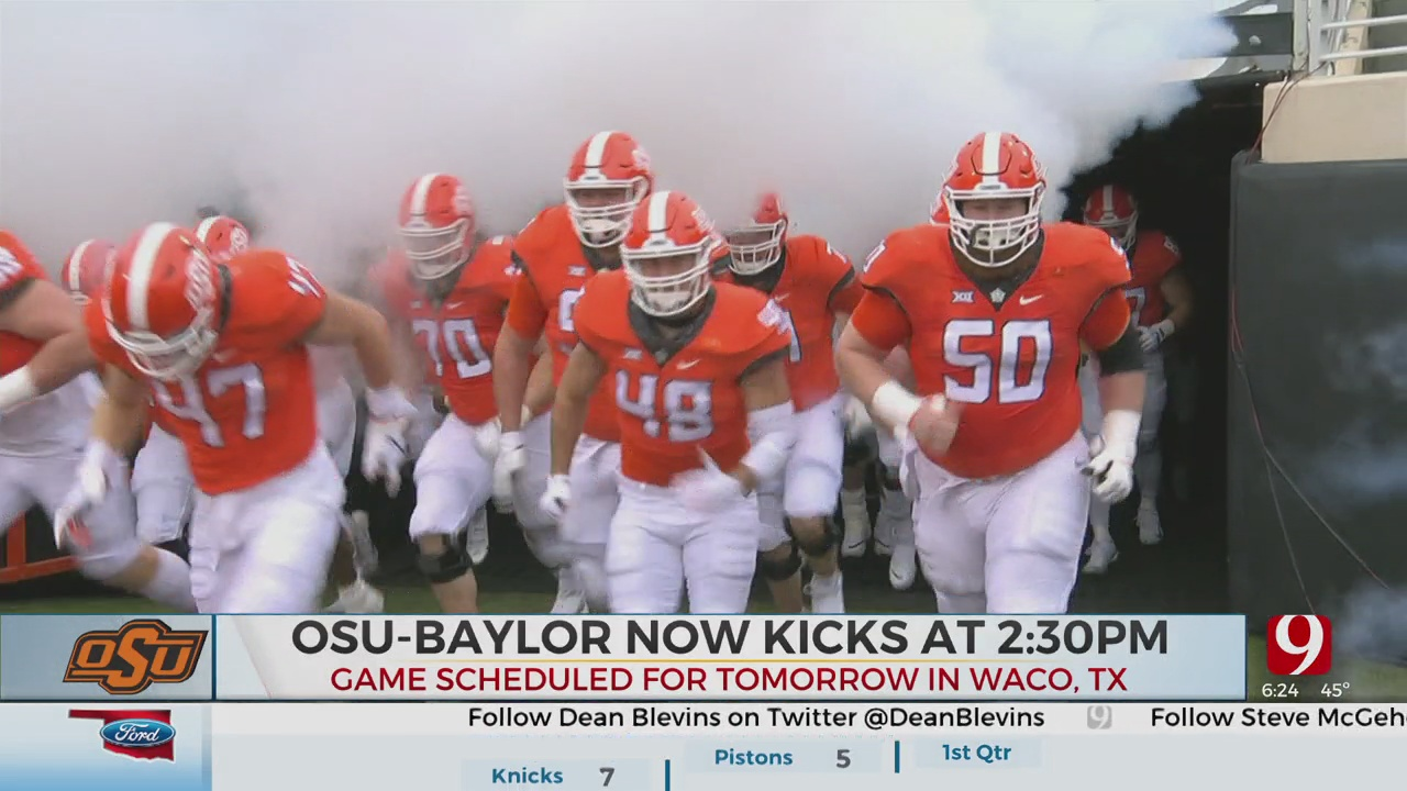 New Kickoff Set For OSU-Baylor This Weekend