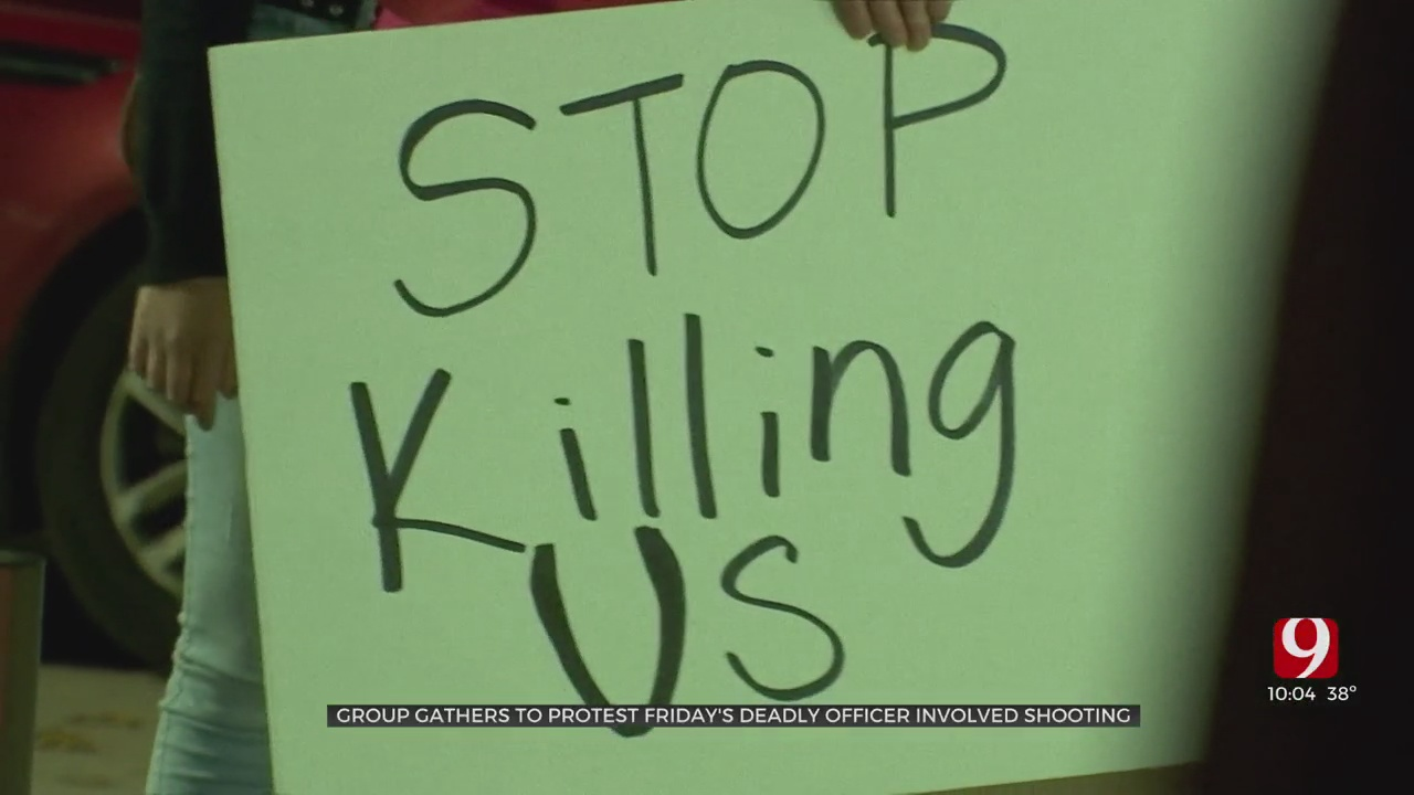 Families Who Lost Loved Ones To Recent Police Shootings Gather For NW OKC Protest
