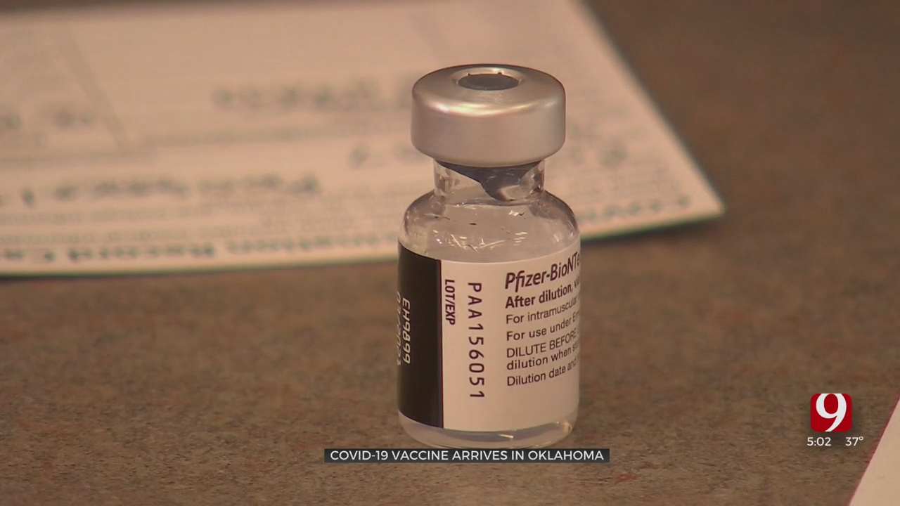 Oklahoma Officials Announce First Shipment of Pfizer Vaccine