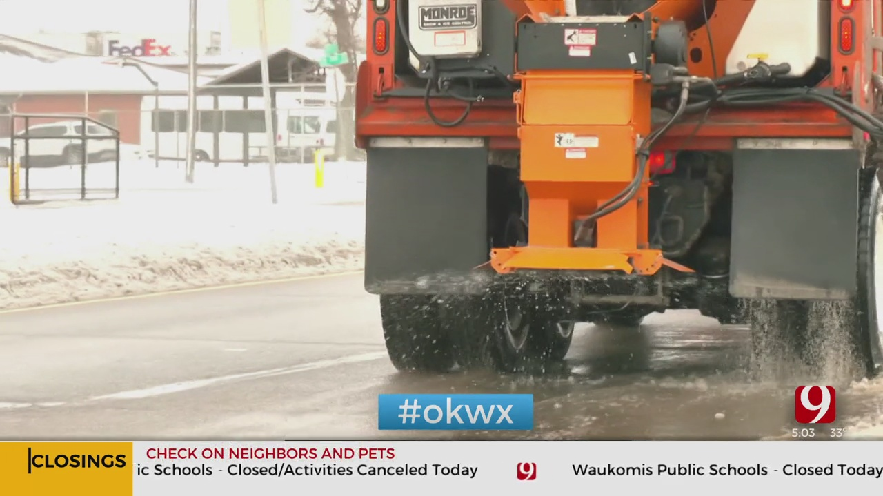 OKC Salt Trucks Prepare For Another Round Of Winter Weather