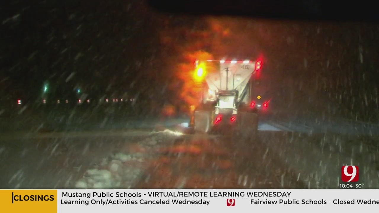 ODOT Crews Working To Treat Roads, Highways Overnight