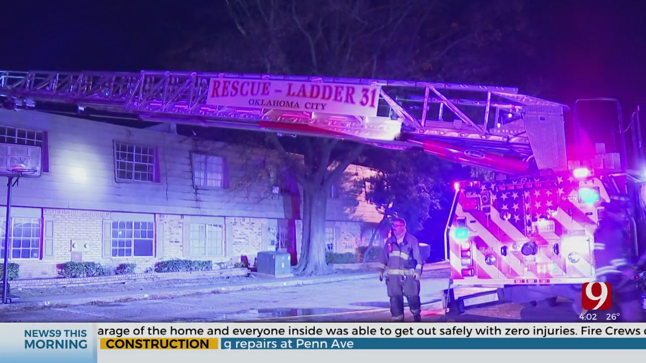 Firefighters Investigate Cause Of Overnight Fire At NW OKC Apartment