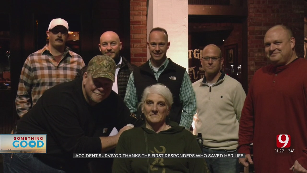 Woman Meets First Responders Who Saved Her Life
