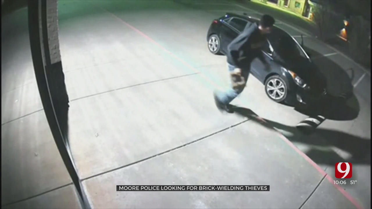 Moore Police Search For Brick-Wielding Thieves