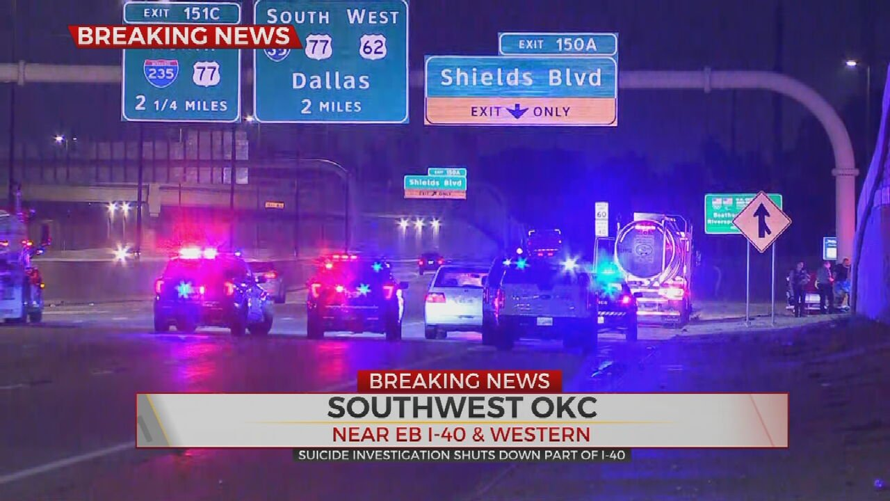 Part Of I-40 Closed As OKC Police Investigate Apparent Suicide