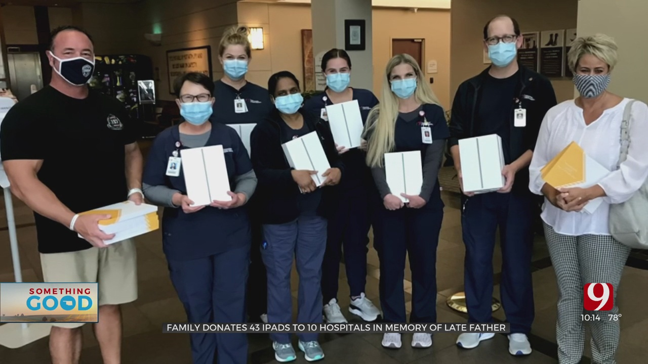 Family Donates 43 iPads To Hospitals To Help Patients Connect With Family