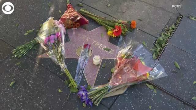 People Visit Alex Trebek's Hollywood Walk Of Fame Star